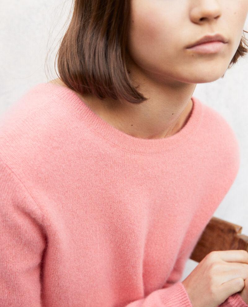 Round neck cashmere jumper Salmon pink Ixela