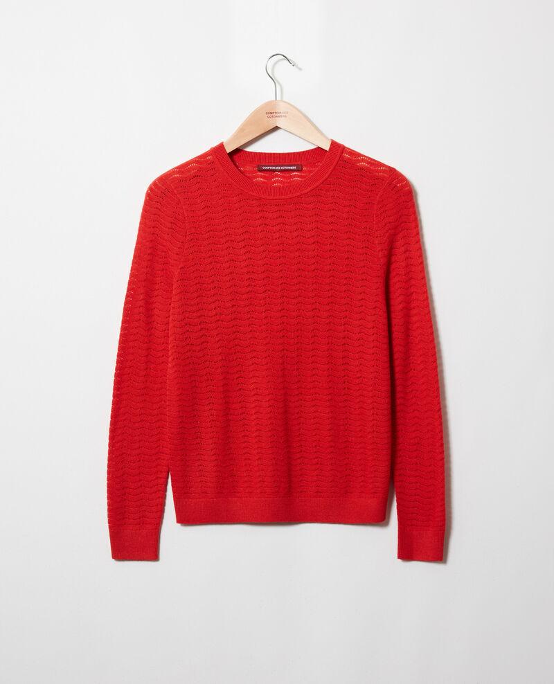 Novelty knit jumper 100% Merino Wool Molten lava Jikael