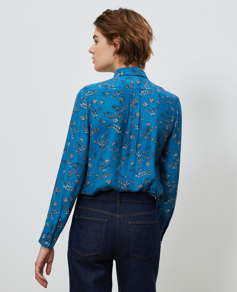 Printed silk shirt Coronille faience Nabilo