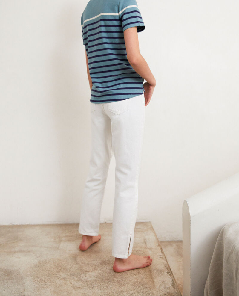 Jeans with two slits Blanc Istru