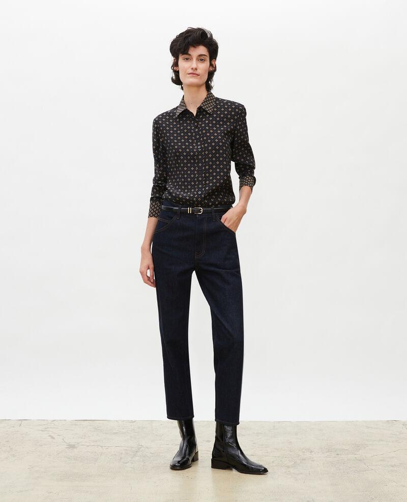 TOMBOY - High-waisted 5 pocket wide jeans Denim rinse Merona