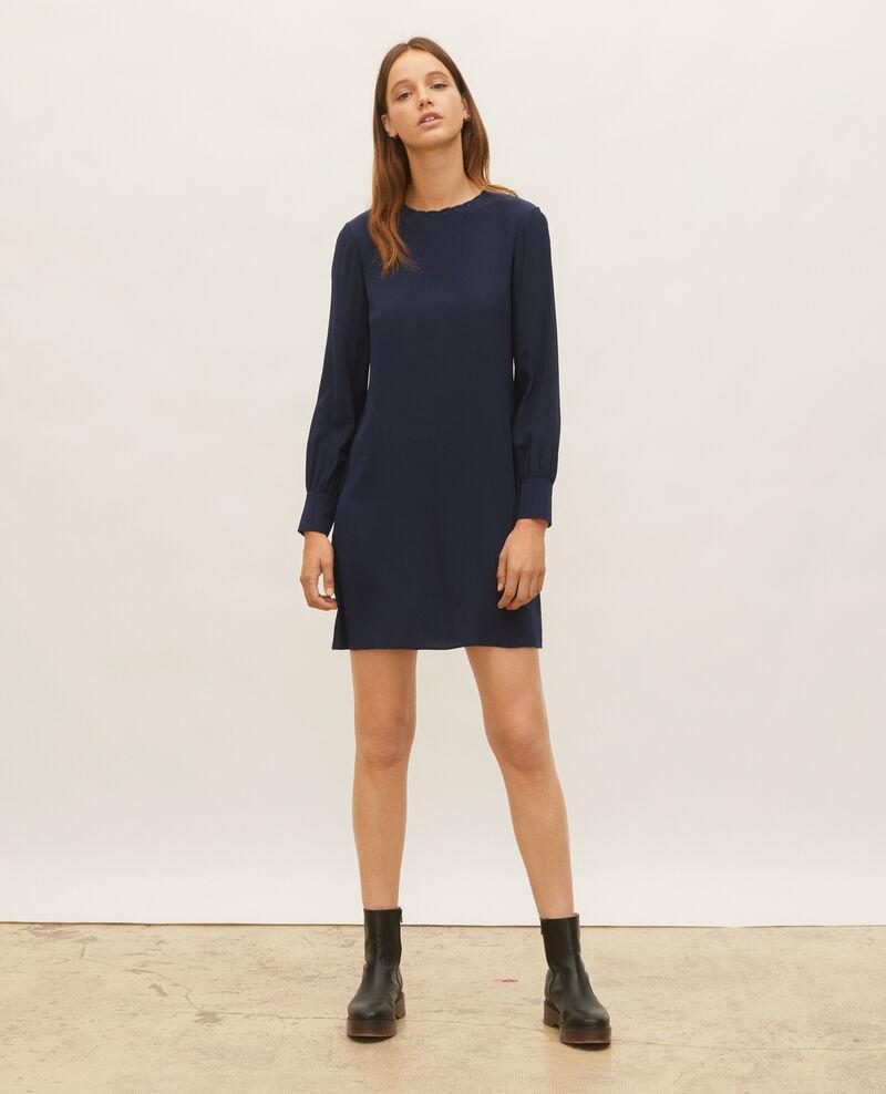 Silk dress Maritime blue Lamax