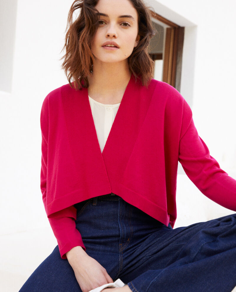 3D cotton short cardigan Fushia Ijape