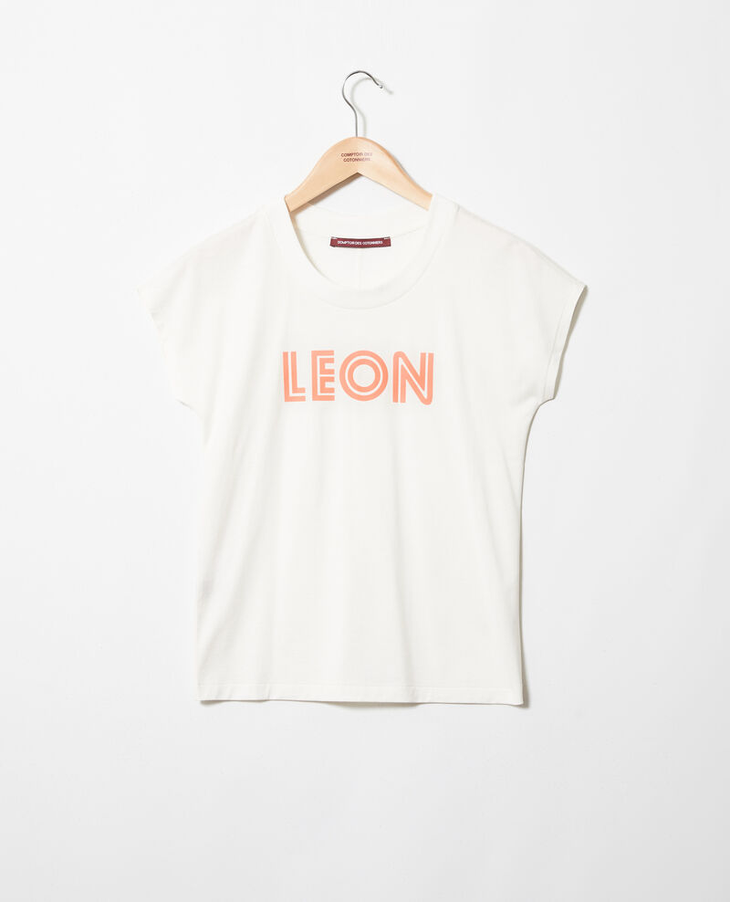 """Léon"" t-shirt Ow/salmon pink Ithera"