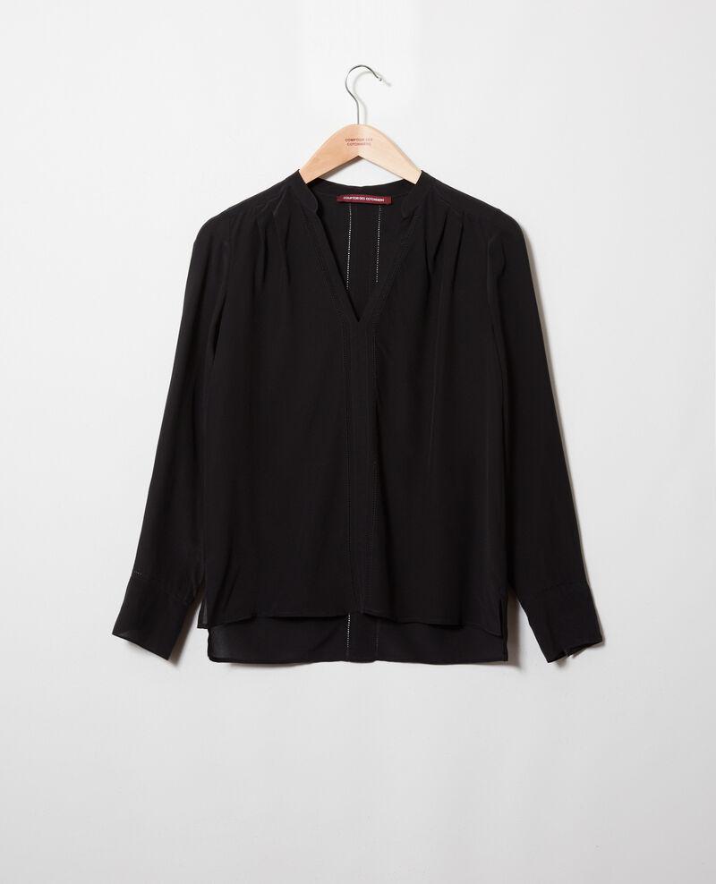 Silk blouse Noir Japristi