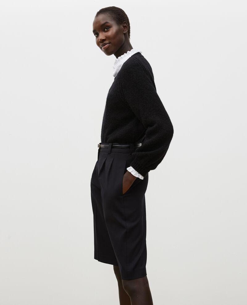 Loose boatneck wool jumper Black beauty Mombrier
