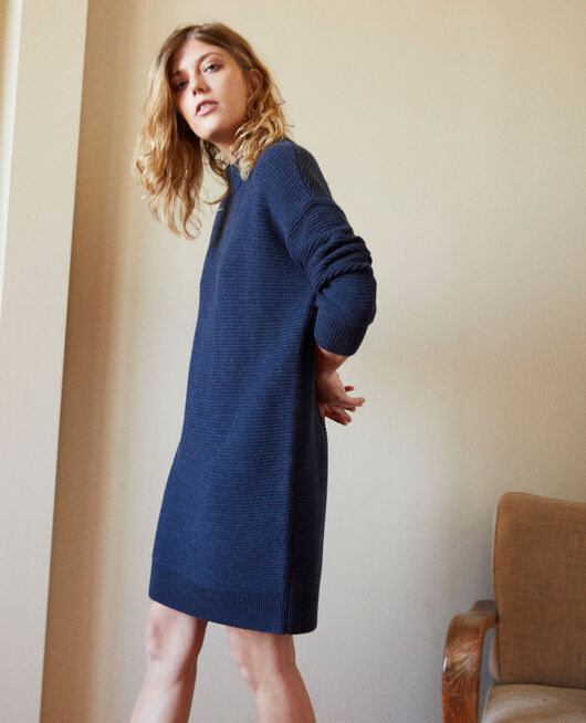 Knitted jumper dress ODYSSEY GRAY