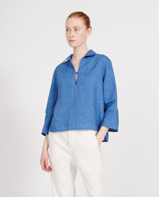 Linen blouse INDIGO