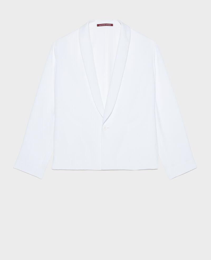 Loose polyester blazer Optical white Levibal
