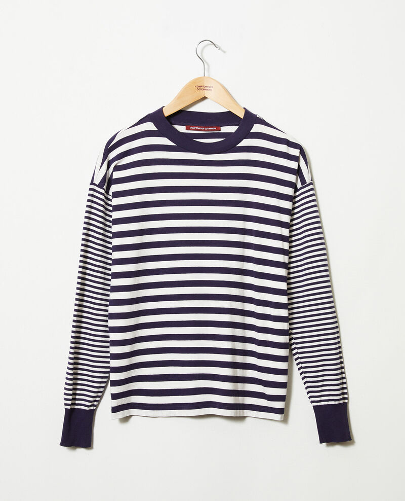 Striped cotton t-shirt Butter/evening Jeidala