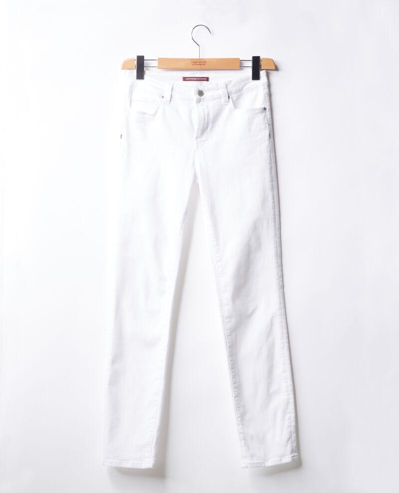 Cigarette jeans Off white Figossa