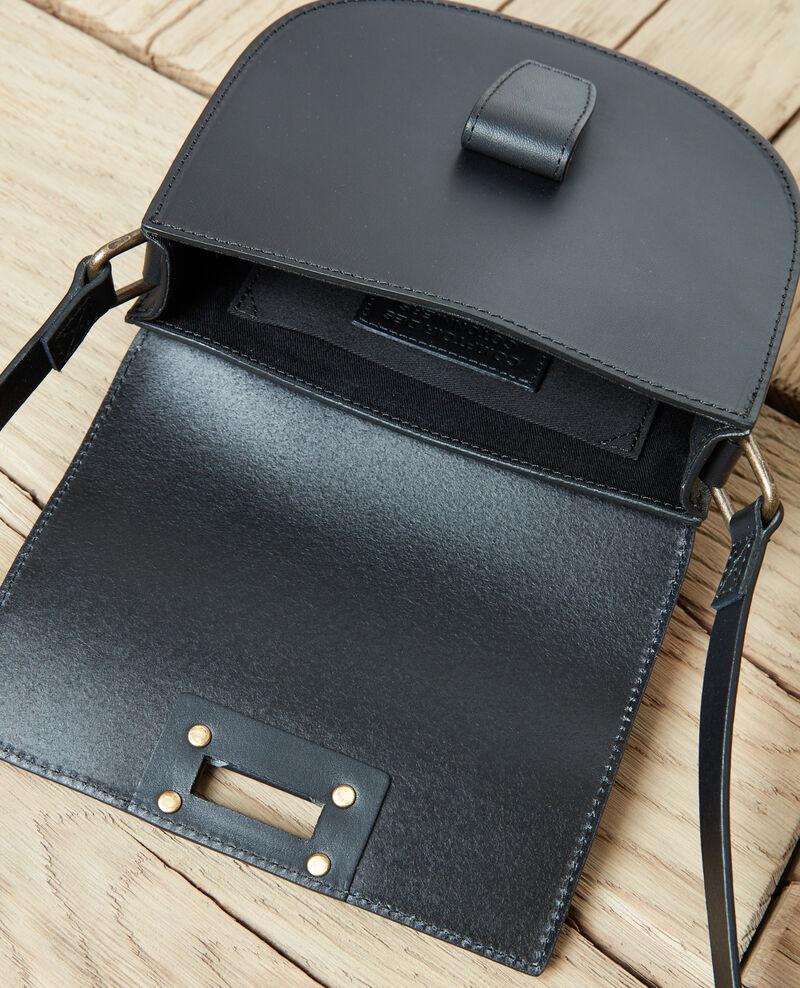 Small half-moon bag Noir Jordani