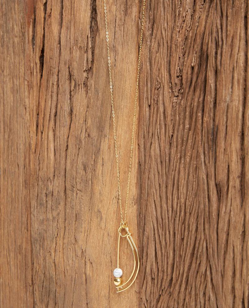 Fancy necklace, long model Gold Fibuline