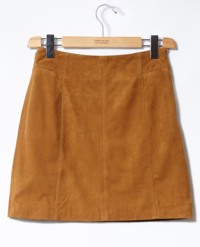 Suede pencil skirt Yellow Georgiane