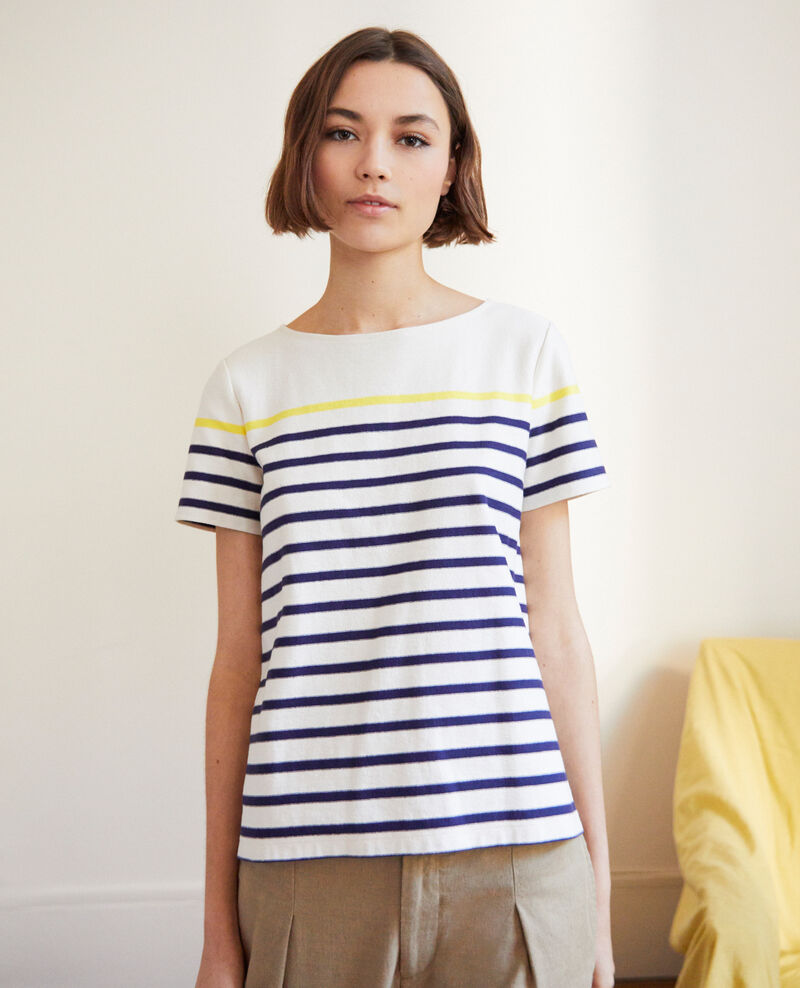 Striped T-shirt Ow/navy/yello Imarin