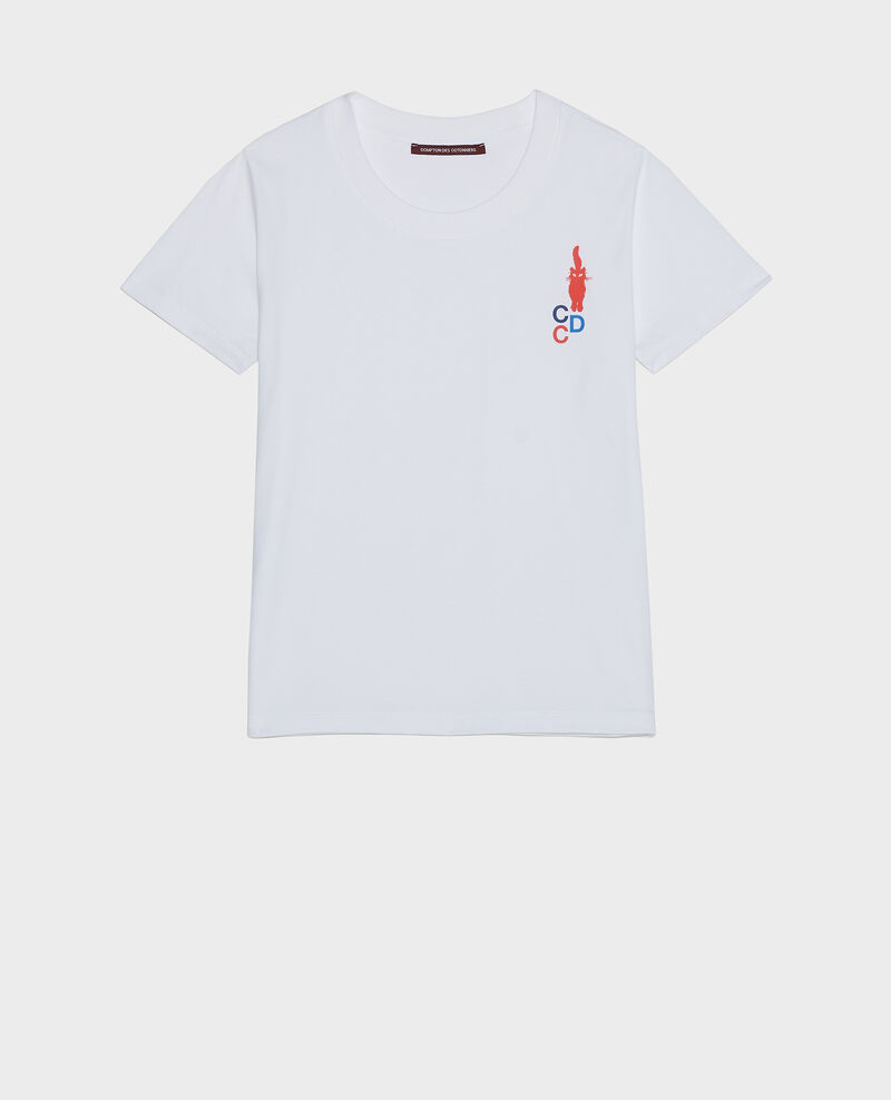 Cotton T-shirt Fiery red Lecit