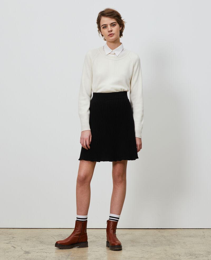 3D knit mini skirt Black beauty Noziere