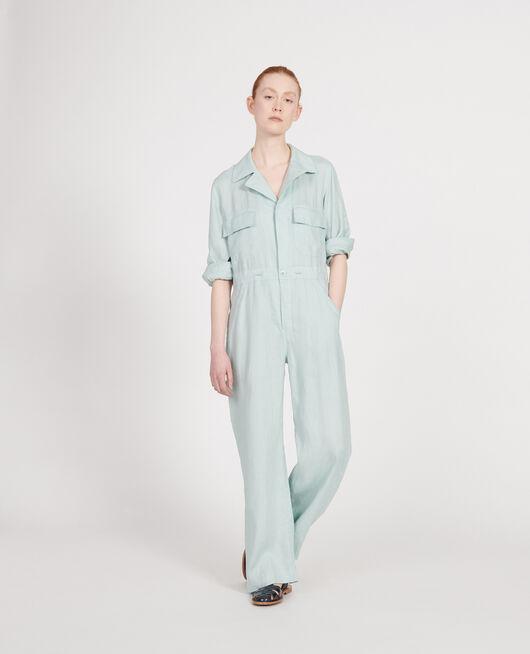 Linen jumpsuit BLUE HAZE