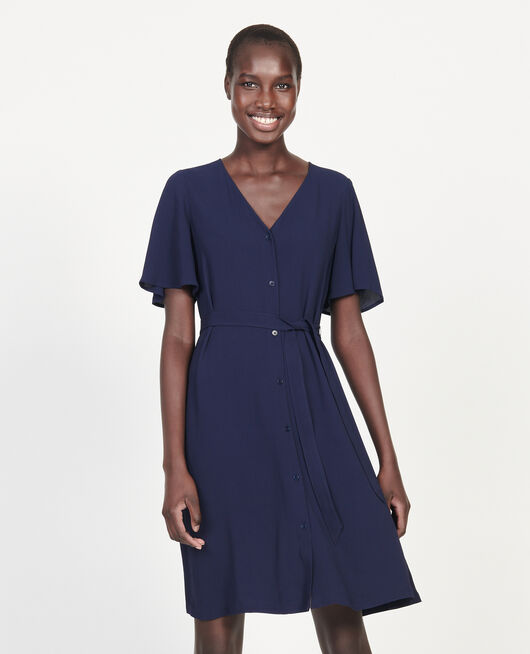 Loose dress MARITIME BLUE