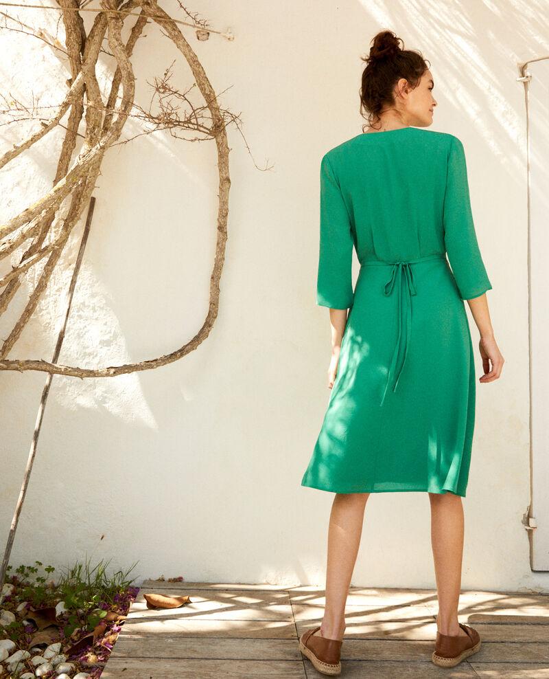 Silk wrap dress Green Icoeur