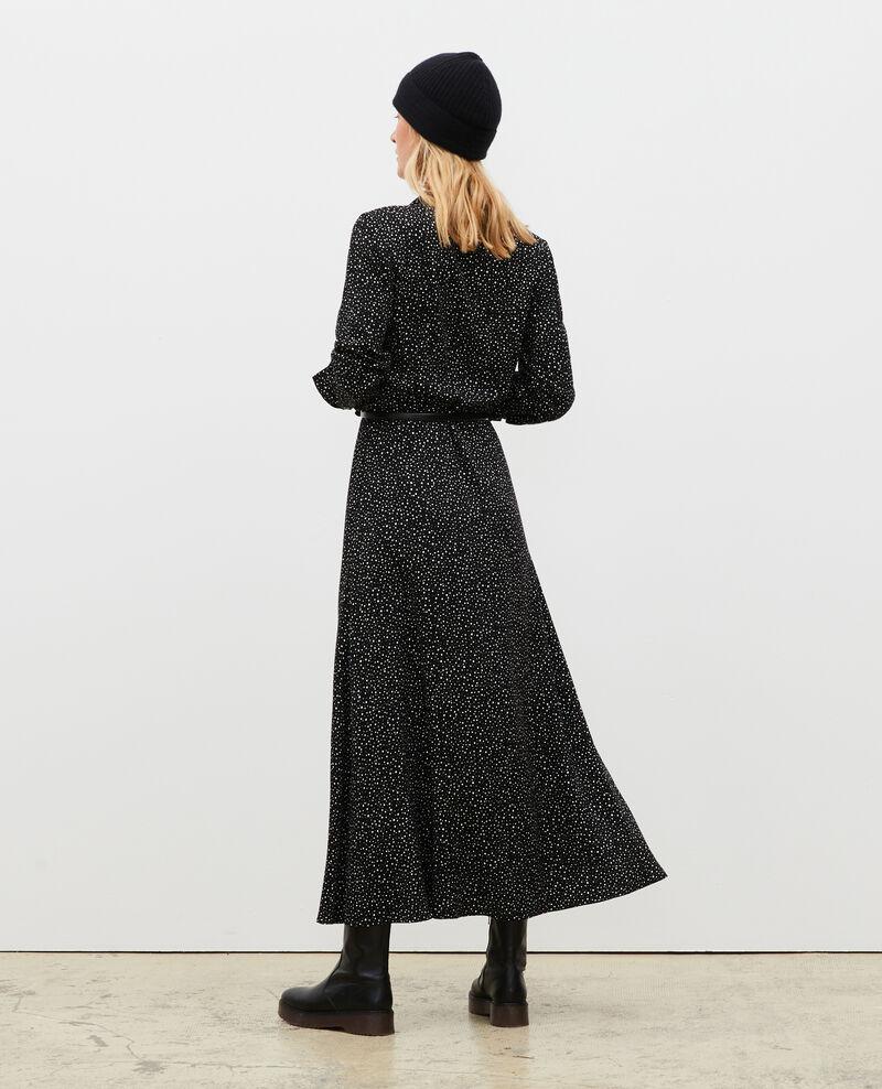 Printed maxi dress Print constellation black Meursac