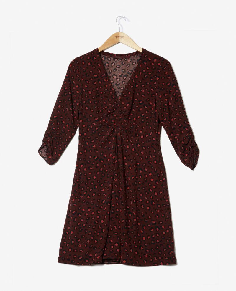 V-neck dress Brown 9bandali
