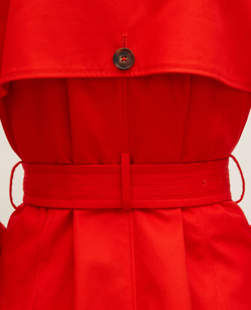 CATHERINE - Iconic cotton trench Fiery red Lambert
