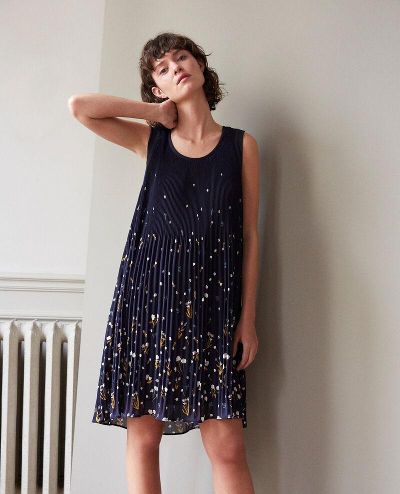 Pleated dress Blue Garance