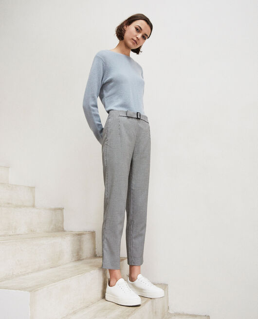 Straight-leg trousers CHAMPAGNE/NOIR