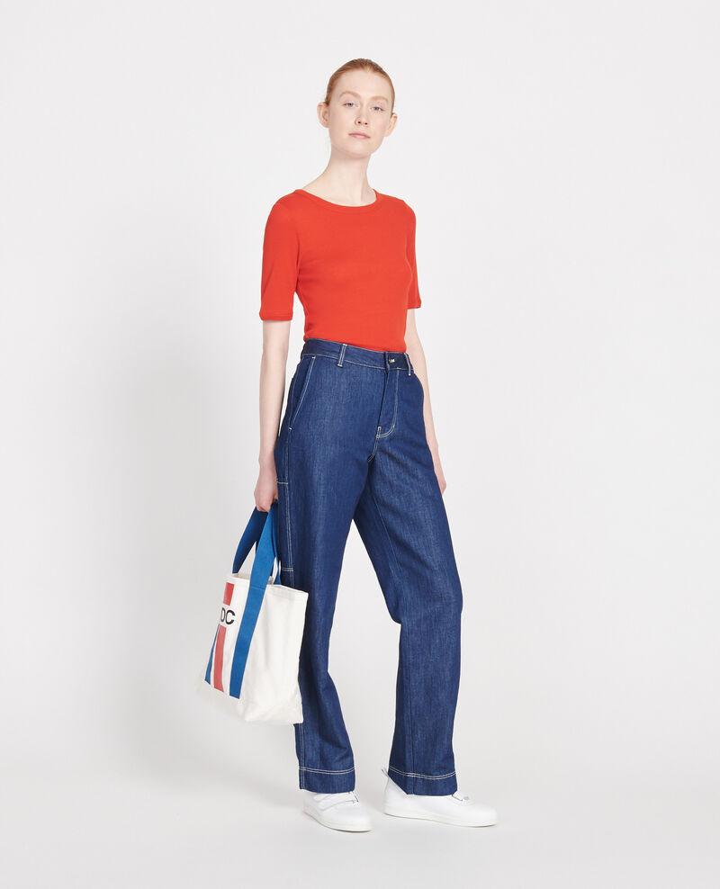 Cotton T-shirt Fiery red Lasso