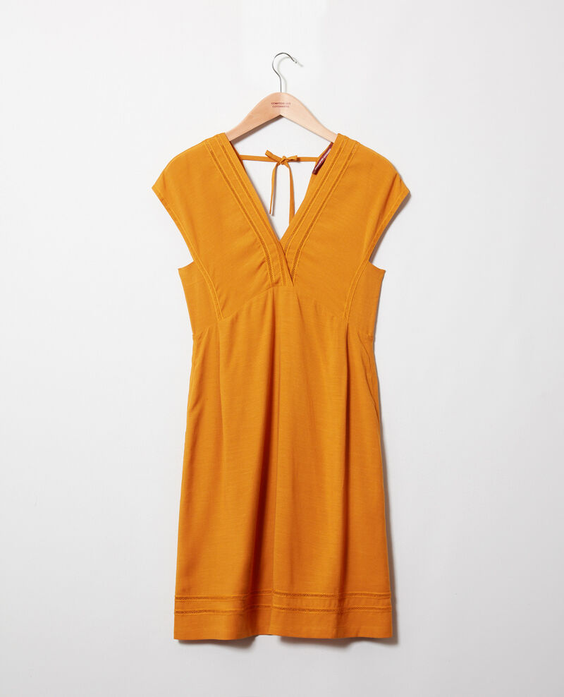 Dress with lace insert Thai curry Jadoit