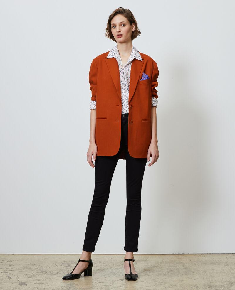 SIBYLLE - Printed silk shirt Clochette spicy Nabilo