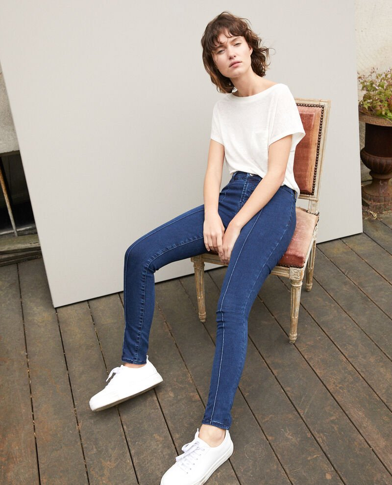7/8 skinny cropped jeans Blue Girondine