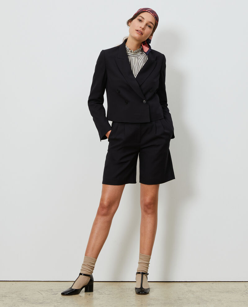 Short wool spencer jacket Black beauty Narre