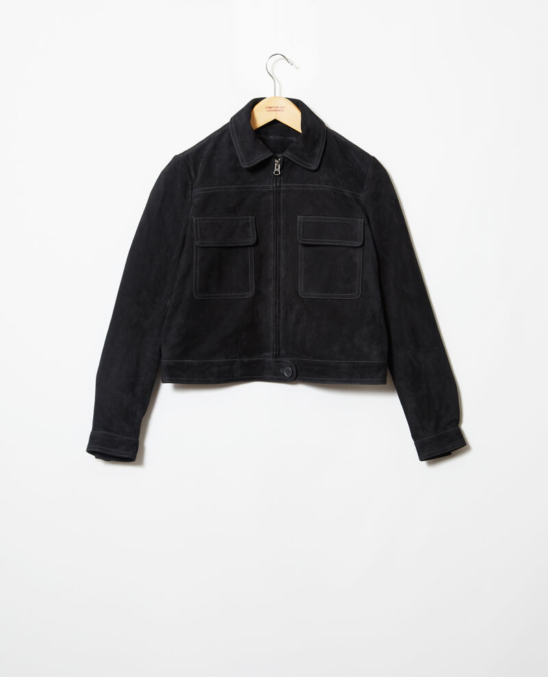 Short suede jacket Noir Irmelle