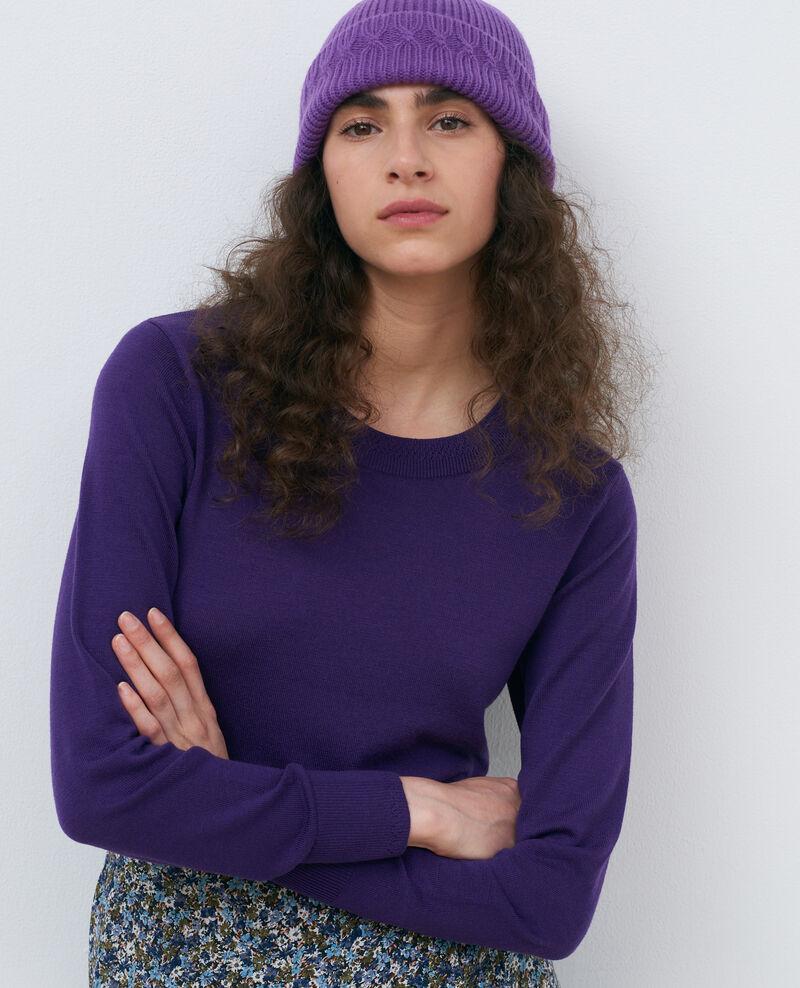 Round neck wool jumper Acai Passy