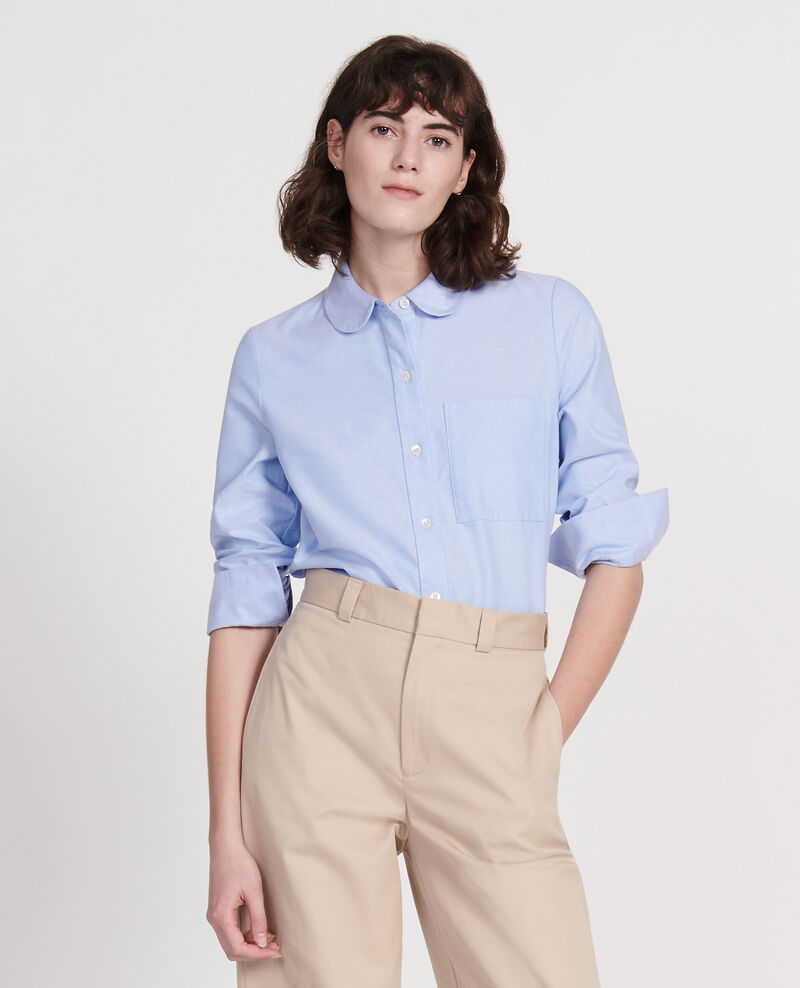 Cotton shirt  Chambray blue Lalica