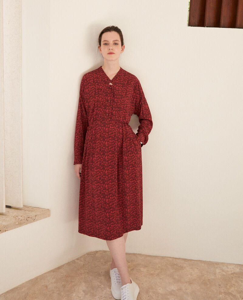 Printed dress Ld rio red Geviana