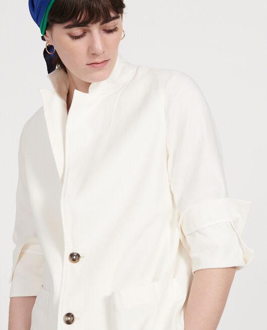 Linen blazer GARDENIA