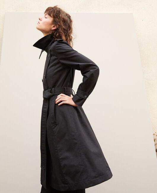 Mid-length trench coat Black