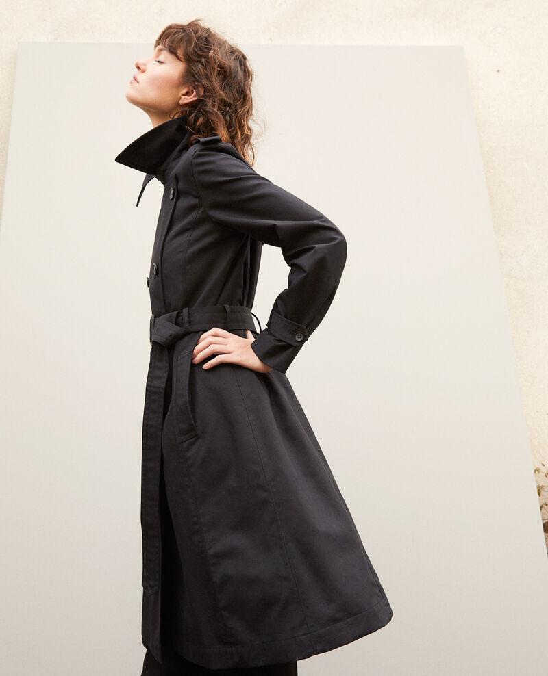 factory style distinctif meilleures baskets Mid-length trench coat Black - Gabien | Comptoir des Cotonniers