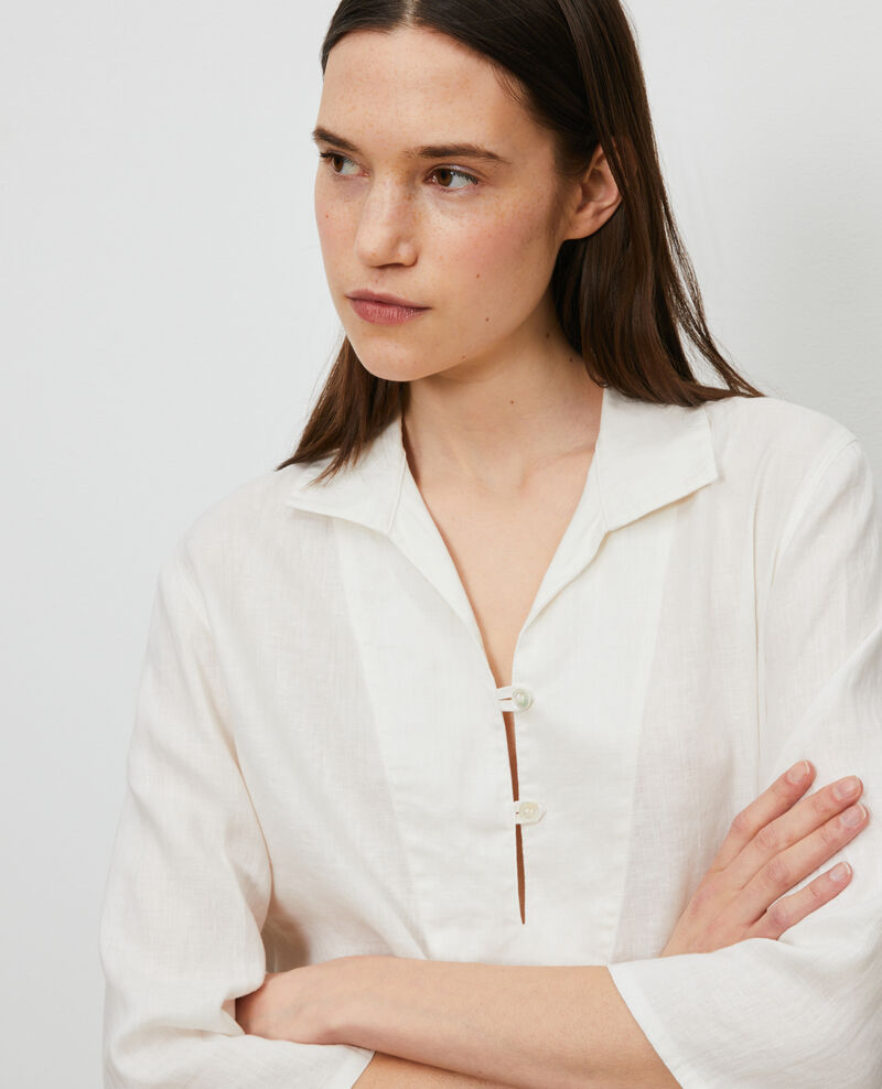 Linen pea jacket Gardenia Lortet