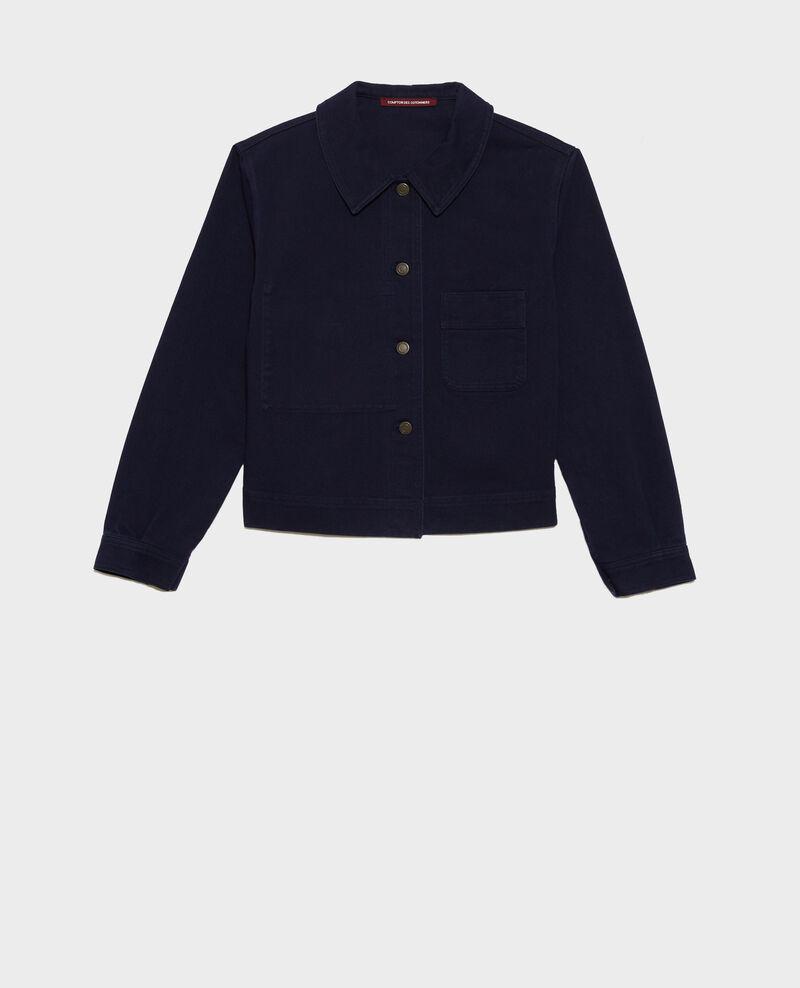 Short cotton jacket Maritime blue Nana