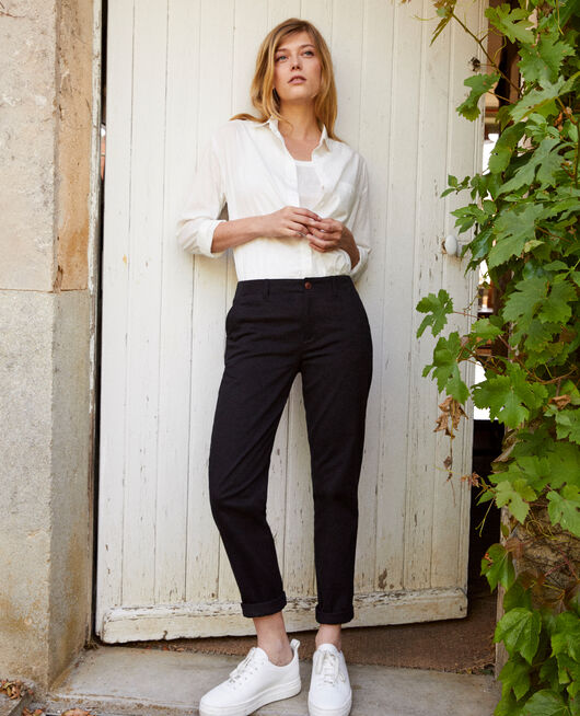 Straight-leg trousers NOIR