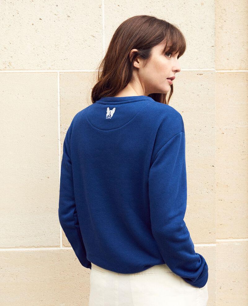 Embroidered Léon sweatshirt Dk indigo/ow Igleon