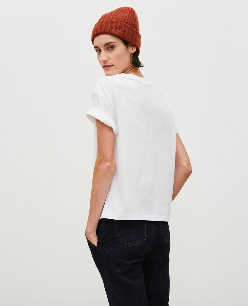 Short-sleeve cotton t-shirt Pastel lilac Mariette