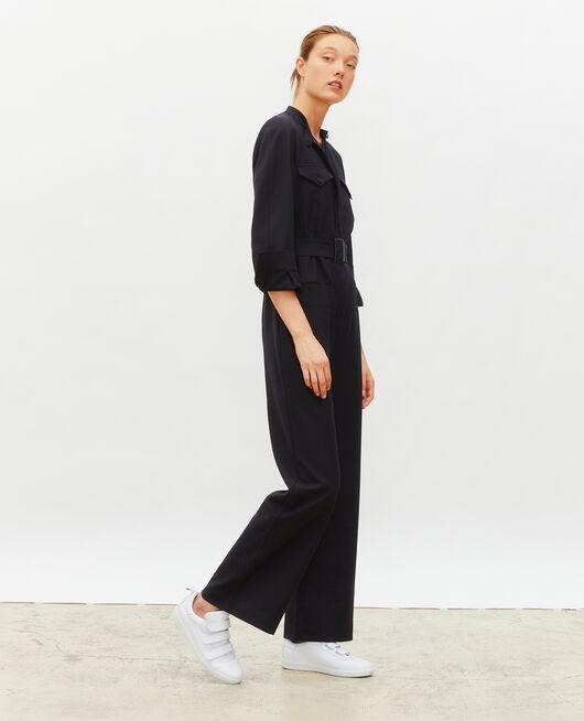 Long-sleeve wool jumpsuit BLACK BEAUTY