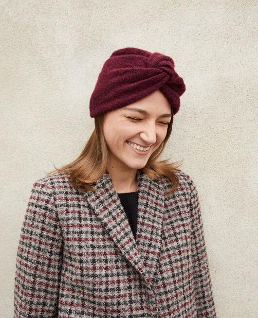 Turban-style hat Brown
