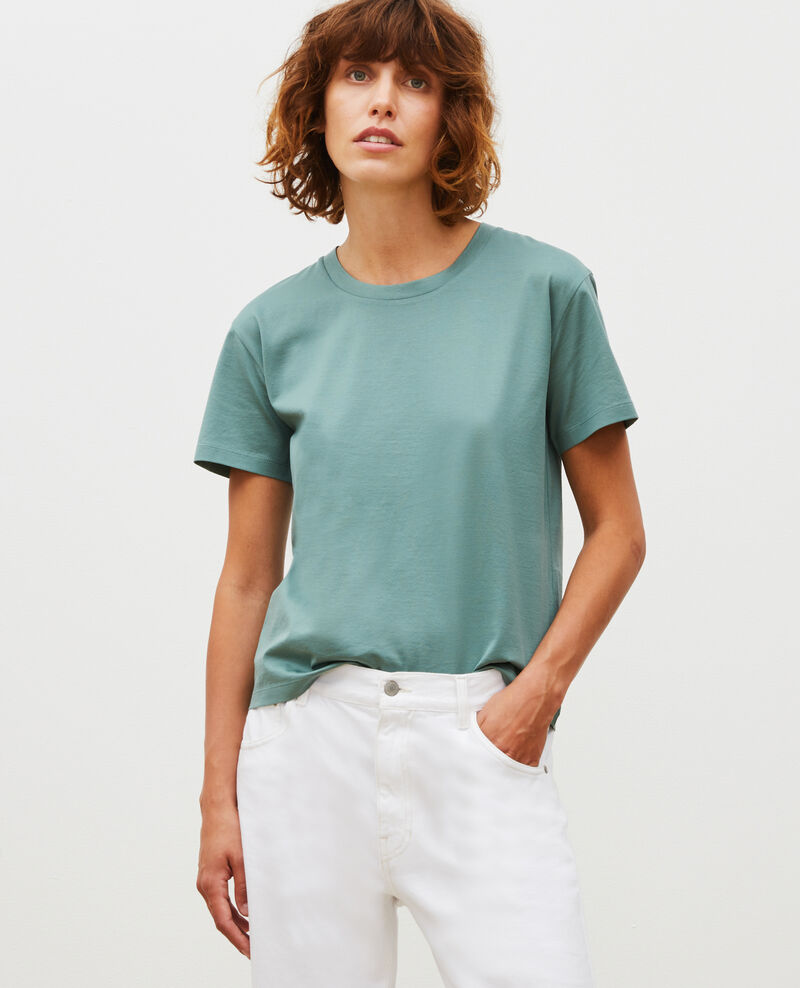 Round neck cotton t-shirt Treillis Lirous