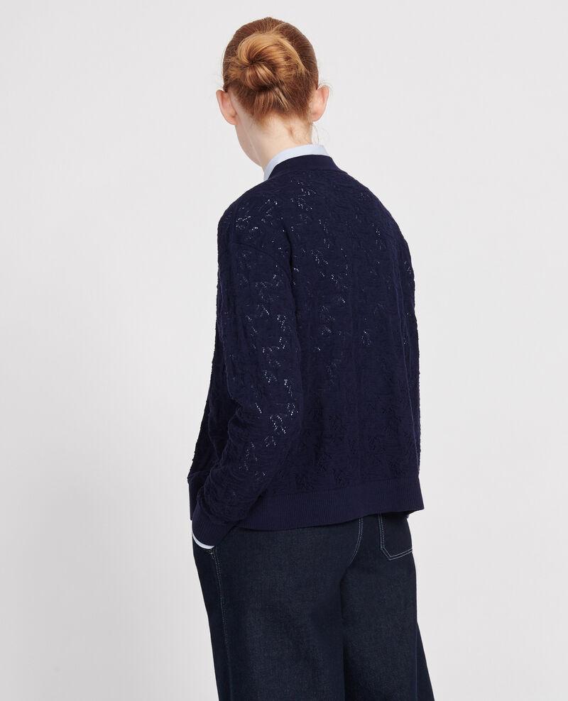 Rib knit cardigan Maritime blue Lafiora